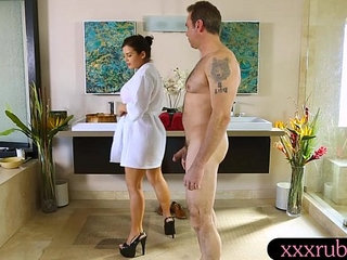 Busty masseuse gets banged by her client after massage | bangedbustymassage