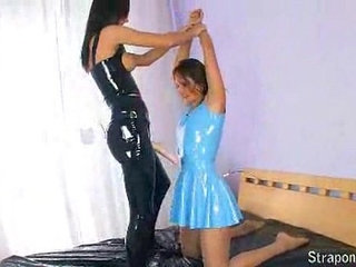 latex lesbians fucking with their strapons | latexlesbianstrapon