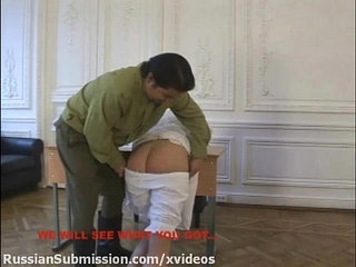 Russian blonde babe must stubmit to the wild orders of a horny officer | blondehornyofficerrussianwild