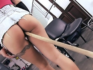 Incredibly Hot Ass Maid Inserts Broom Stick in Pussy! | assmaidpussy