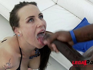 Hot nympho mea melone assfucked by big cocks and dap ed | big cock