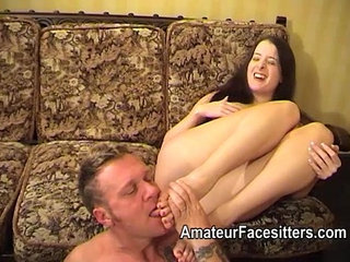 Controlling her man with her feet and butt | buttfoot