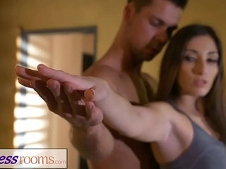 Fitness Rooms Private yoga class after workout for leggy French Milf | fitnessfrenchworkoutyoga
