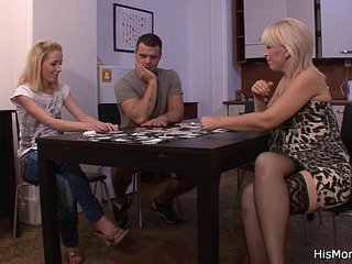 Strip poker leads to pussy toying | pussystriptease