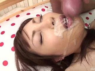 Adorable Kana Miura on her knees being skull fucked | adorable
