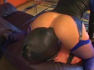 Femdom facesitting in leather and lingerie | facesittingfemdomleatherlingerie
