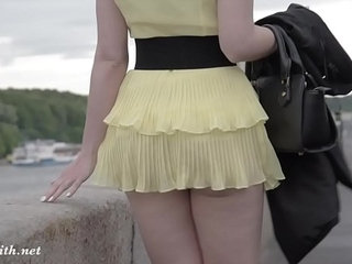 Jeny smith public flasher shares great upskirt views on the streets | publicupskirt